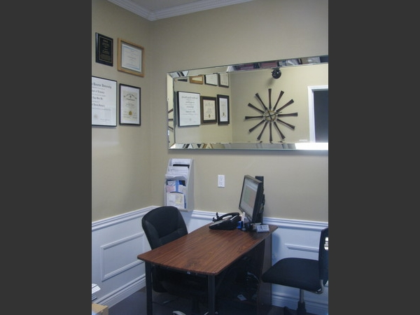 This is the Treatment Coordinators office...it is a private place where you can learn about procedures and discuss financing.Your privacy and comfort is important to us!